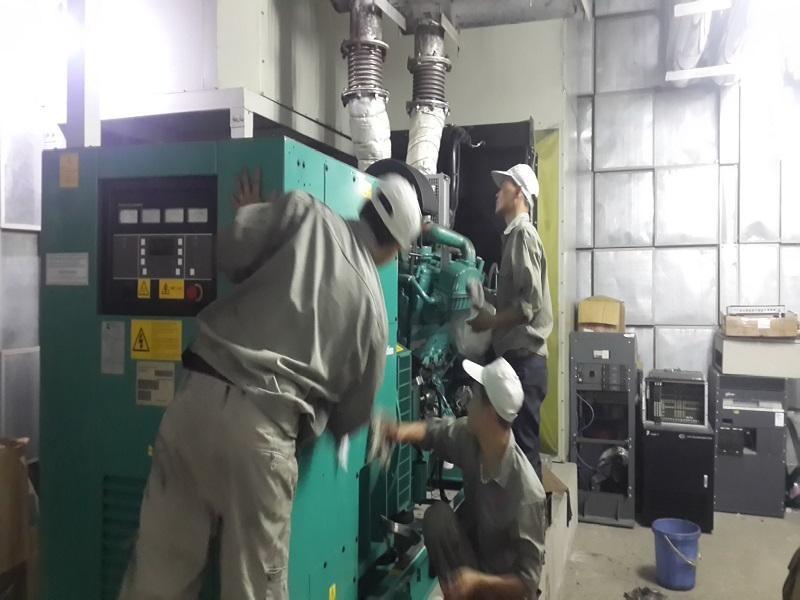 Đặt máy phát điện nơi khô ráo