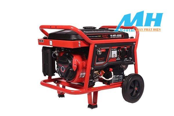 Máy phát điện chạy bằng xăng được sử dụng phổ biến hiện nay.